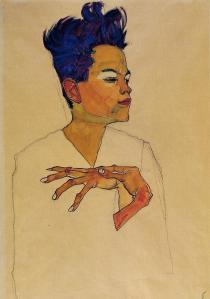 self-portrait-with-hands-on-chest-1910